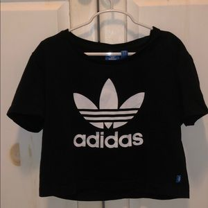 authentic adidas basic crop top